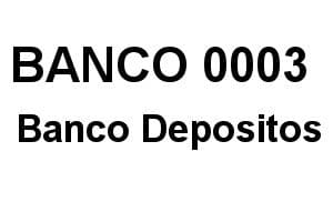 Banco 0003 Código IBAN, BIC y SWIFT de BANCO-DEPOSITOS